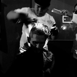 The Team Led By Lex Low Offering Free Hair Cuts